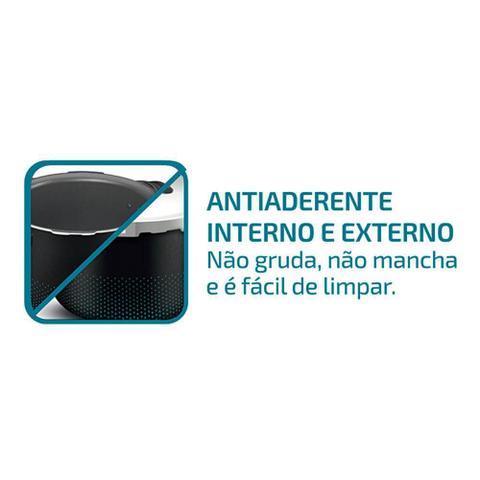 Imagem de Panela de Pressão 4.5 Litros Rochedo Smart  Fechamento Externo Preta