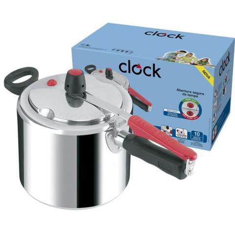 Imagem de Panela de pressão 4,5 litros em aluminio polida clock