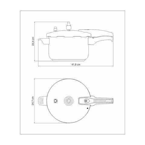 Imagem de Panela De Pressão Allegra 6L Aço Inox 62676/220 Tramontina