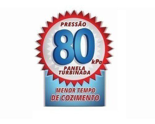 Imagem de Panela De Pressão Aluminio Nacional 7l Fechamento Externo