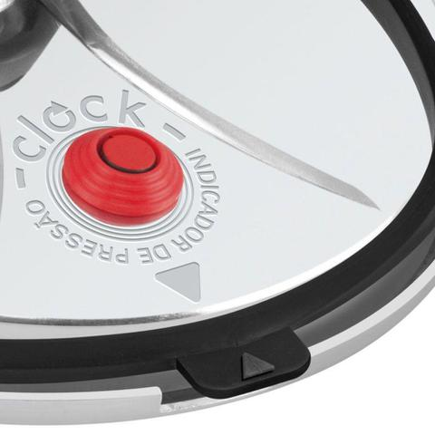 Imagem de Panela de Pressão Clock 7 Litros com Revestimento Antiaderente e Trava de Segurança - Preto
