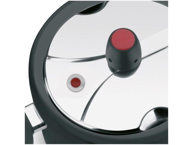 Imagem de Panela de Pressão Clock Antiaderente Preta 7L