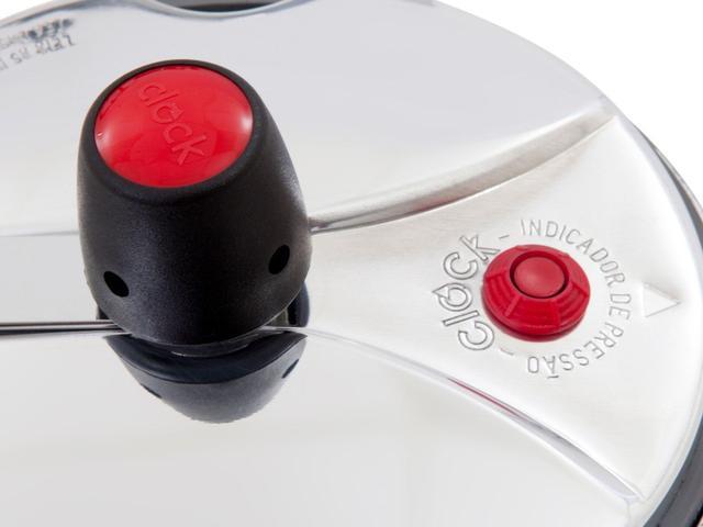 Imagem de Panela de Pressão Clock Original Polida Alumínio - 4,5L