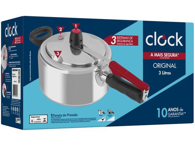 Imagem de Panela de Pressão Clock Polida Alumínio