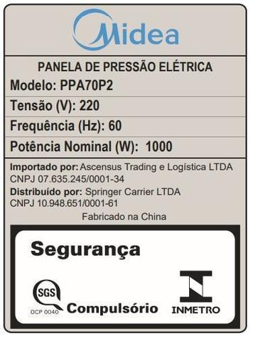 Imagem de Panela De Pressão Elétrica 6L Midea Preta