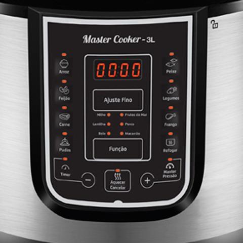 Imagem de Panela de pressão elétrica digital 3 litros Master Cook 3L- PE-40 (110V)