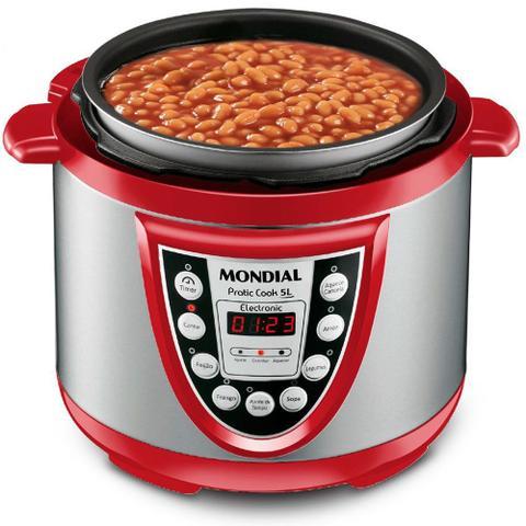 Imagem de Panela de pressão elétrica digital 5 litros Pratic Cook 5L- PE-12 - Mondial