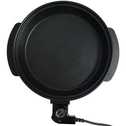 Imagem de Panela Elétrica Grill 110V Redonda 40 Cm 1200W Antiaderente Amvox APE 4000 Preta