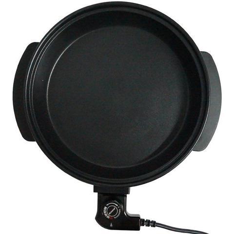 Imagem de Panela Elétrica Grill 110V Redonda 40 Cm Multifuncional 1200W Antiaderente Amvox APE 4000 Preta