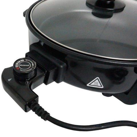 Imagem de Panela Elétrica Grill 220V Redonda 40 Cm 1200W Antiaderente