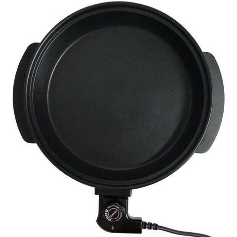 Imagem de Panela Elétrica Grill 220V Redonda 40 Cm Multifuncional 1200W Antiaderente Amvox APE 4000-2 Preta