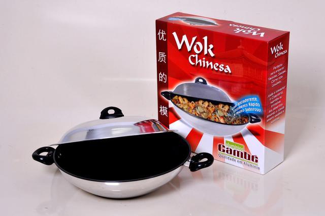 Imagem de Panela wok chinesa com revestimento antiaderente interno (7010)