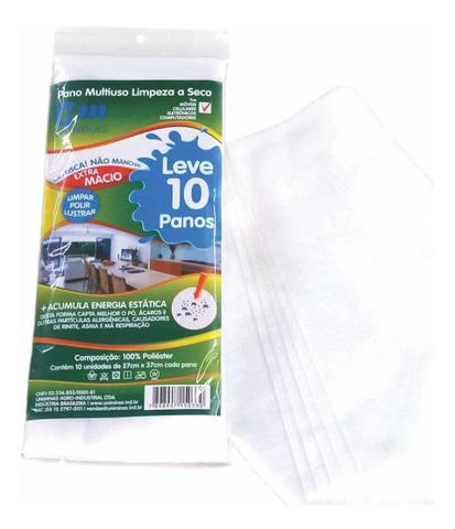 Imagem de Pano Multiuso Limpeza Contra Ácaros Alergênicos 30 Unidades