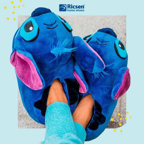 d16745bb3bc288 Pantufa 3D Lilo Stitch Disney 34/36 - Stitch Ricsen 119012