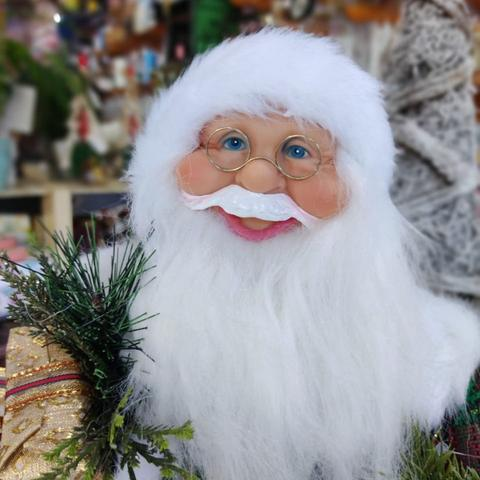 Imagem de Papai Noel Cromus Roupa Vermelha com Guirlanda 45cm