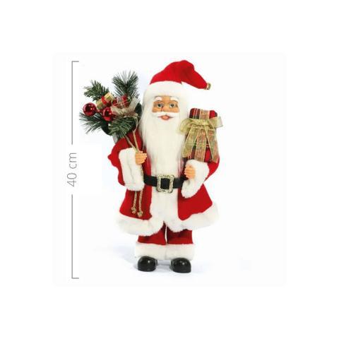 Imagem de Papai Noel Decoracao Natalina Boneco 40cm Decorativo Enfeite de Natal Tradicional Clássico Presentes