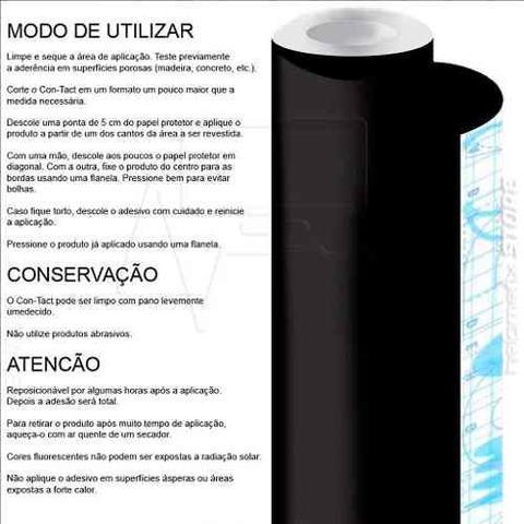 Imagem de Papel Adesivo Contact Azul Fosco Lavável 45 Cm X 10 Metros