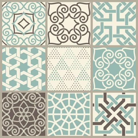 Imagem de Papel Adesivo Contact Azulejo Dubai Lavável Rolo 45 cm X 10 Metros