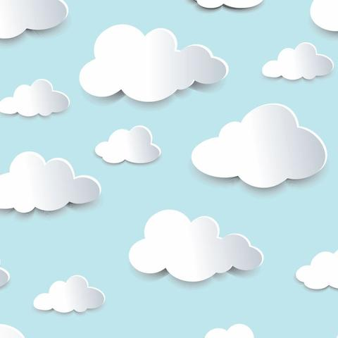 Imagem de Papel De Parede 3d Bebê Infantil Nuvem Chuva Nuvens N4304