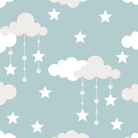 Imagem de Papel De Parede Bebê Infantil Nuvem Chuva Nuvens Teen N4316