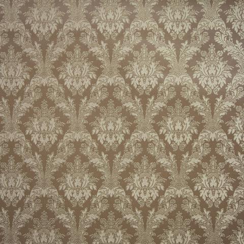 Imagem de Papel de parede importado marrom escuro arabescos dourado