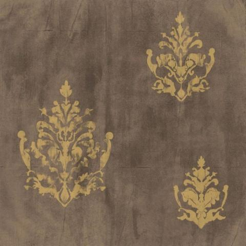 Imagem de Papel de Parede Natural Marrom, Dourado Arabesco 1430 Bobinex