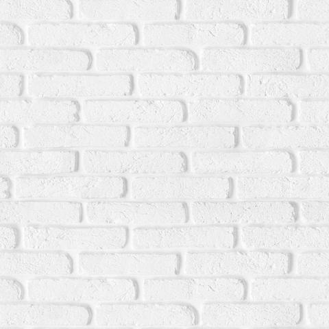 Imagem de Papel de Parede Tijolinho Branco e Cinza