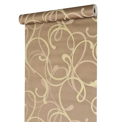 Imagem de Papel de parede vinílico importado textura arabesco