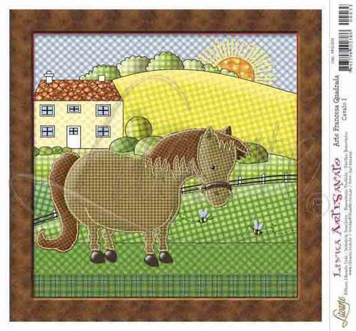 Imagem de Papel Decoupage Arte Francesa Cavalo I AFQ-033 - Litoarte