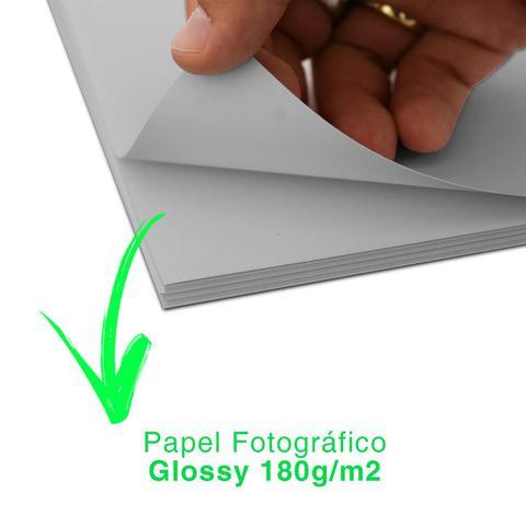 Imagem de Papel Fotográfico 180g Glossy A4 Prova D'água 200 Folhas