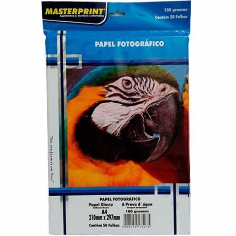 Imagem de Papel Fotográfico Glossy Masterprint A4 180 Gramas 50 Folhas