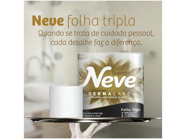 Imagem de Papel Higiênico Neve Supreme Folha Tripla Neutro Rolo 20 Metros Pacote com 4 Unidades