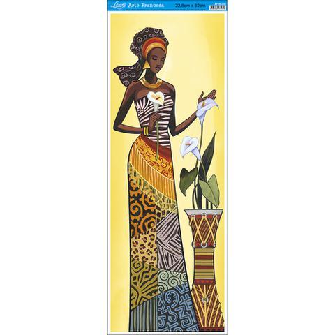 Imagem de Papel para Arte Francesa Litoarte 22,8 x 62 cm - Modelo AFVE-056 Angolana c/ Copos de Leite