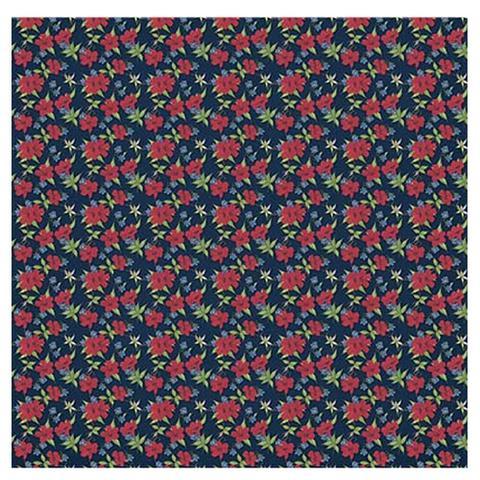 Imagem de Papel Scrapbook Litoarte 30,5x30,5 SD1-010 Mini Flor e Arabesco