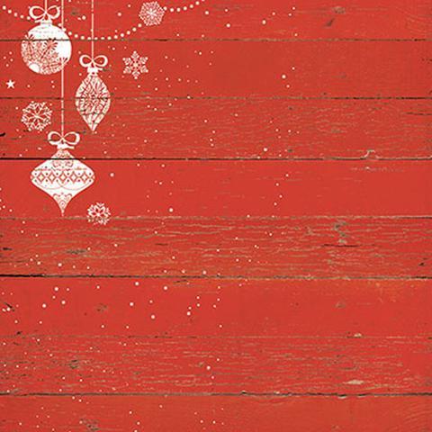 Imagem de Papel Scrapbook Natal Litoarte 30,5x30,5cm SDN-066 Papai Noel Madeira Vermelha