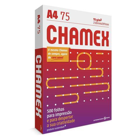 Imagem de Papel Sulfite A4 Chamex Multi Branco 75g 210x297mm Resma com 500 Folhas