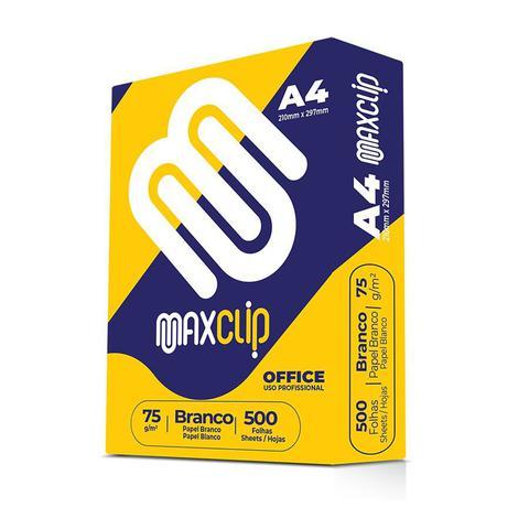 Imagem de Papel Sulfite A4 Maxclip Branco 75g 210x297mm Resma com 500 folhas
