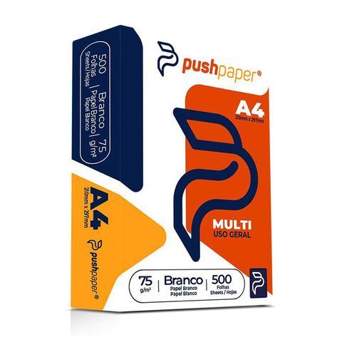 Imagem de Papel Sulfite A4 PushPaper Multi Branco 75g 210x297mm Resma com 500 Folhas
