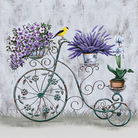 Imagem de Papel Transfer 30x30 Bicicleta e Flores PT30-014 - Litoarte