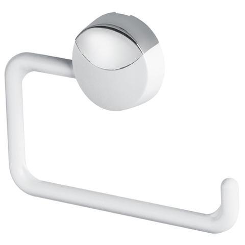 Imagem de Papeleira para Banheiro Parede Herc Lavello ABS Branco / Cromado