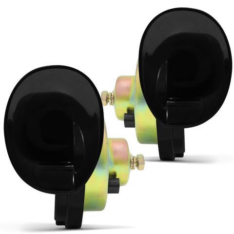 Imagem de Par Buzinas Eletrônica Veículos tipo Caracol 12V 2 Terminais Modelo Original Vetor Universal