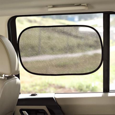Imagem de Par Com 2 Protetor Solar Duplo Para Vidro De Carro Preto Sol