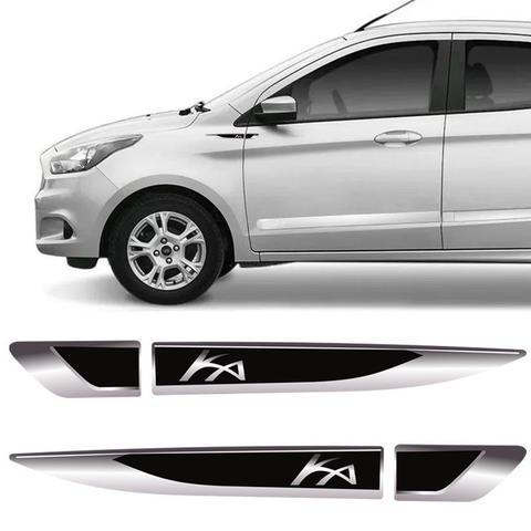 Imagem de Par De Aplique Lateral Ford Ka 2015, 2016, 2017, 2018 e 2019 Emblema Resinado