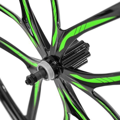 Imagem de Par de Rodas de Magnésio Aro 29 Rosca - Preta/Verde