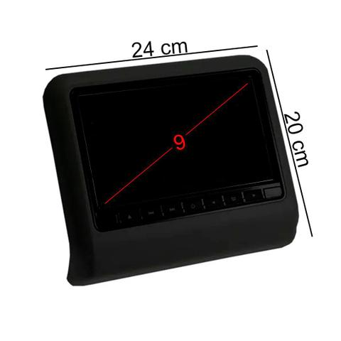 Imagem de Par DVD Portátil Encosto Cabeça Preto Tela 9 Polegadas USB SD Game Wireless Joystick