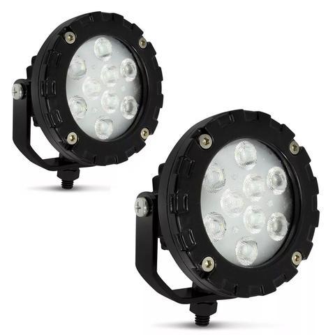 Imagem de Par Farol Auxiliar Power LED Autopoli 9 LEDs 12V 24V 9W Banco para Aplicação Farol de Milha