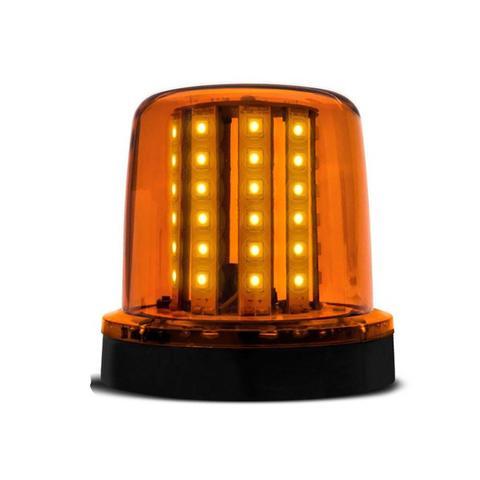 Imagem de Par Giroflex Luz Emergência Sinalizador 54 LEDs 12 24V Âmbar Giroled Fixação Parafuso