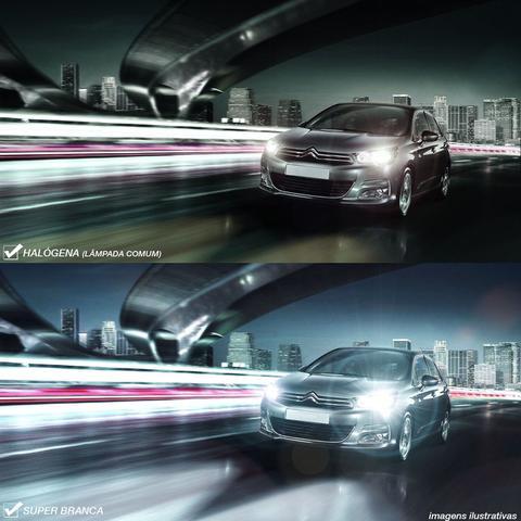 Imagem de Par Lâmpada Super Brancas H7 8500K 12V Efeito Xênon