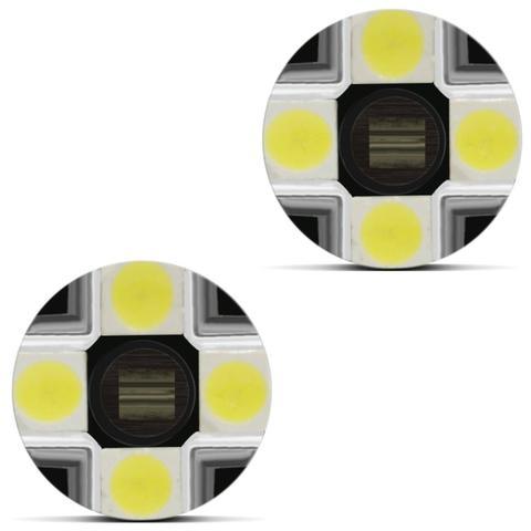 Imagem de Par Lâmpadas LED T10 W5W Pingo 1 Polo Trava Reta 8 LEDs 5W 12V Luz Branca Aplicação Farol
