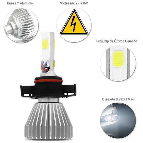 Imagem de Par Lâmpadas Power LED 3D Headlight H16 6000K 12V 24V 50W 9000LM Efeito Xênon Carro Moto Caminhão